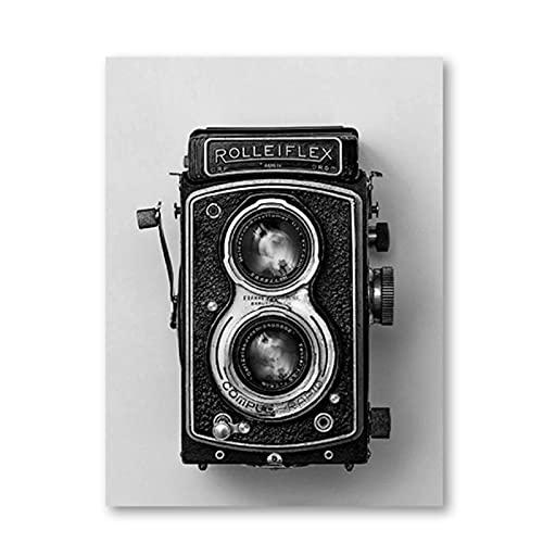 OPBGM Rolleiflex, póster de cámara Antigua, impresión de cámara, Regalo Inconformista, fotografía, Arte de Pared, Lienzo, Pintura, decoración Retro, 16X24 Pulgadas, sin Marco
