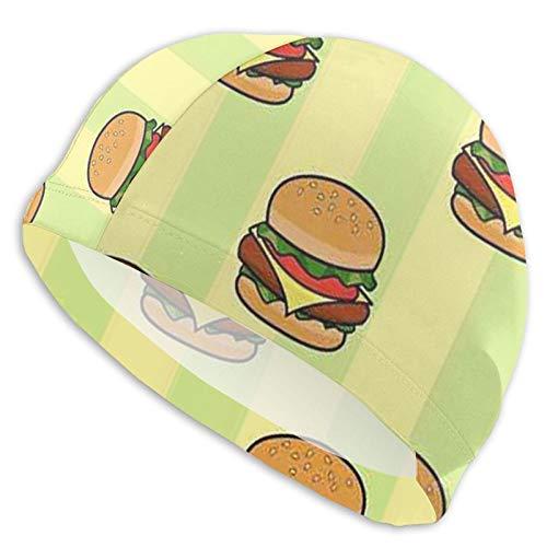 Neddelo Hamburger Swim Cap, Swimming Hat,Bathing Hat Cap for Men Women and Teenagers