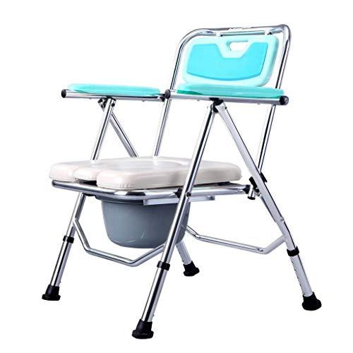 SGSG toiletstoel, slaapkamertoilet, toiletbril aan het bed, draagbare toiletstoel van aluminiumlegering, opvouwbaar veiligheidsrek voor de badkamer