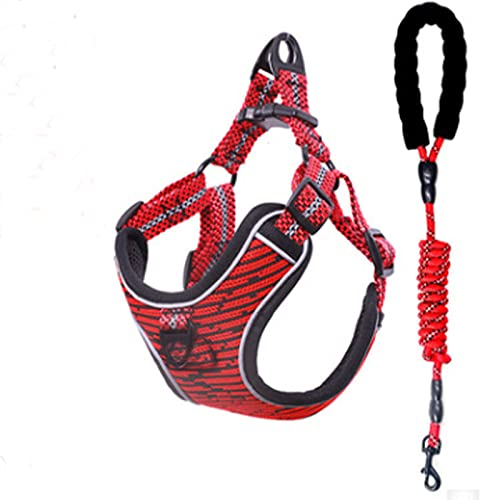 Dog Bunch Pet Adjustable Venean Pets Pets Poophil and Back Large, Small and Medium Pets Chest and Back, Easy to Control,Red,XS