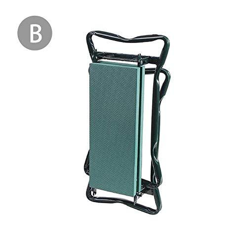Tuinkruk, inklapbaar, tuintapijt, kleine tas van stof, opvouwbaar B: Tabouret Groen