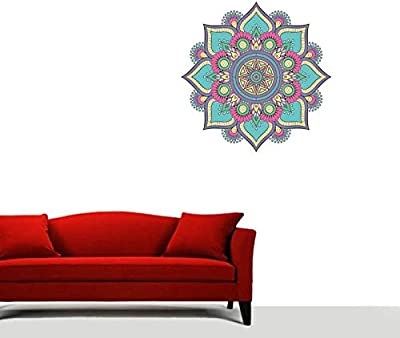 Impression Wall Decor Florals Rangoli Floor Sticker (Cover Area 40 X 40 cm)