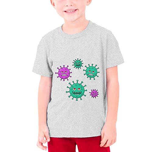 Stop Cor-Onavir-Us Youth Boys Teens Custom T-Shirt, Fashion Shirt for Boys and Girls Gray