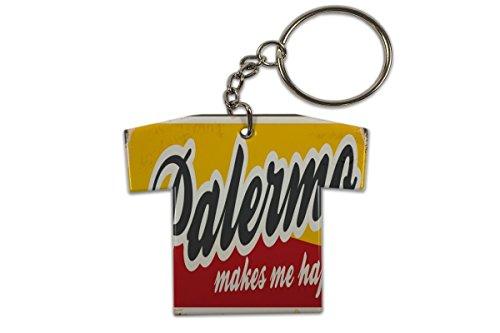 LEotiE SINCE 2004 Schlüsselanhänger Reisen Küche Palermo Italien Trikot bedruckt