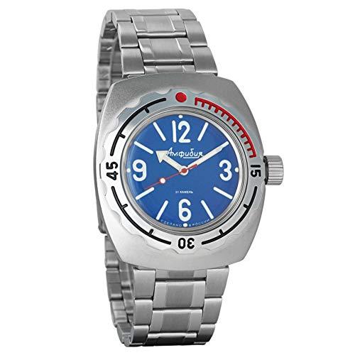 Vostok Amphibian 090914 - Reloj de pulsera para buceadores militares rusos 2416B/2415, 200 m automático