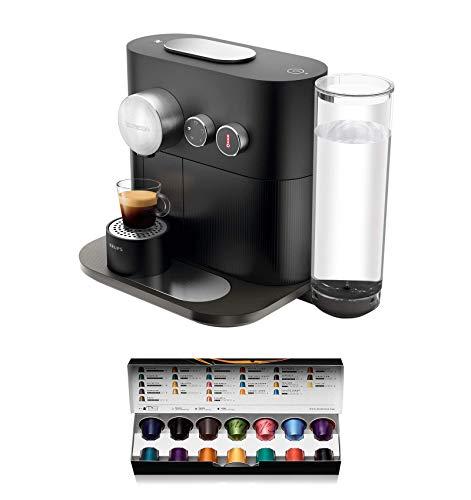 Nespresso Krups Expert XN6008 - Cafetera monodosis de cápsulas Nespresso, controlable con smartphone mediante bluetooth, recetas ajustables, 19 bares, apagado automático, color gris antracita
