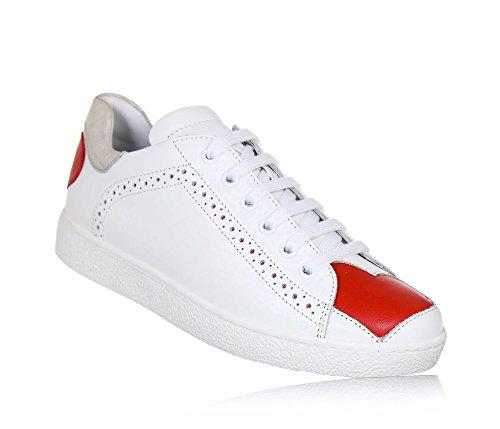 Twinset Milano Twin-Set Weißer Schuh mit Schnürsenkeln Aus Leder, phantasievoll und Modisch, Seitlich ein Reißverschluss, Mädchen, Damen-31