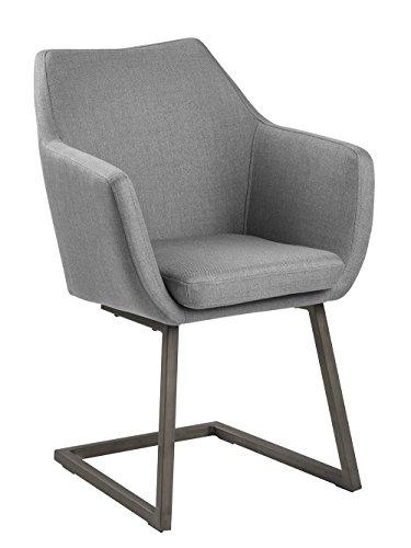 AC Design Furniture Trine Silla, Silenciador, Gris Claro, Freischwinger