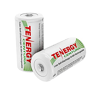 Tenergy Centura C Size 4000mAh Low Self Discharge NiMH Rechargeable Batteries