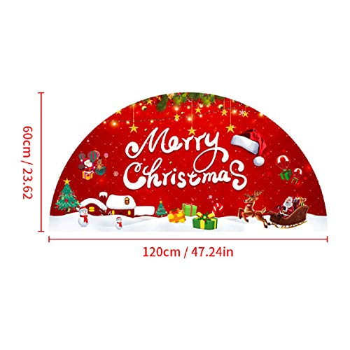 Kiorc Christmas 2020 Merry Christmas Semicircular Stickers Red Threshold Ttickers