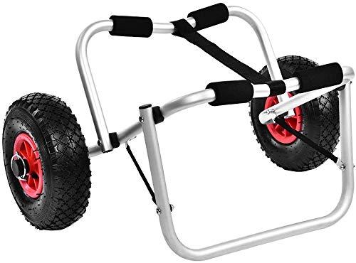 Dljyy Kayak trolley vouwbaar, 80 kg, voor boten, 2 wielen, opvouwbare aluminium trolley, staanplaats voor boten, kano of kajak