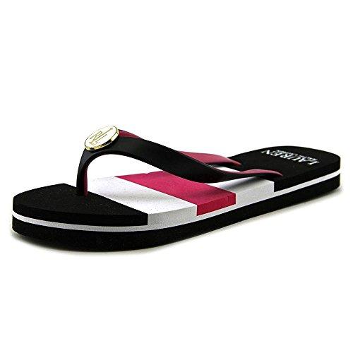 Lauren Ralph Lauren Elissa II Flip Flop, (nero/rosa/bianco.), 35.5 EU