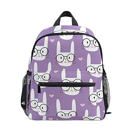 Mini School Backpack College Bag Kids Bookbag for Boys Girls 00 Cute Little Baby Rabbit Bunny