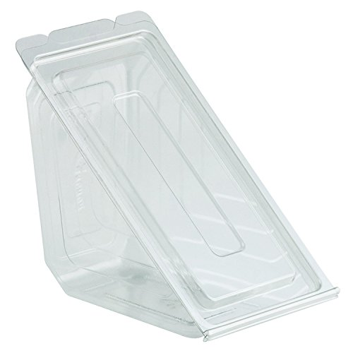 Anchor Packaging Clear Hinged Sandwich Wedge Container - 250 Per Case