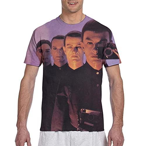 Kraftwerk Band Sublimation Round Neck T-shirt for Men, S to 3XL