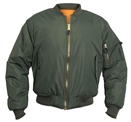 Rothco Enhanced Nylon MA-1 Flight Jacket, L, Sage Green