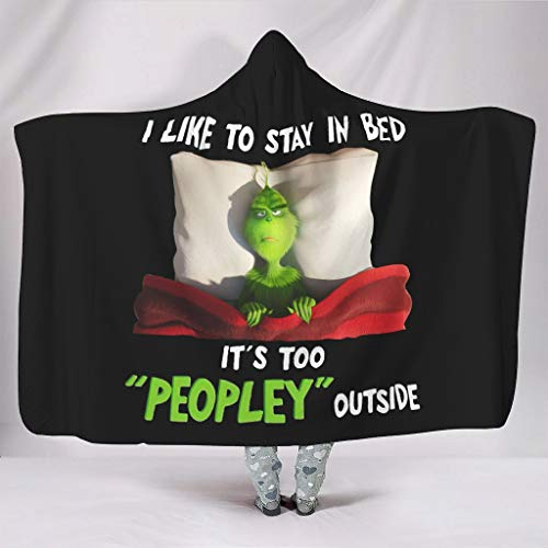 NeiBangM i Like to Stay in Bed It's Too Peopley Outside flanel fleecedeken Comfort microvezel Plush polyester Soft Queen Size deken