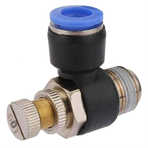 Conexión neumática, Chacerls Conexión neumática 2 piezas Tubo Controlador de velocidad de flujo de aire Tubo Conexión neumática Válvula reguladora Conexión neumática(SL10-03)