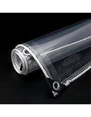 Transparant Waterdicht Dekzeil,heavy Duty Zeil Met Doorvoertules,opvouwbaar Zeildoek,anti-aging Schaduwdoek,kasplanthoezen,365 G/m²,zacht Glas,scheurvastheid