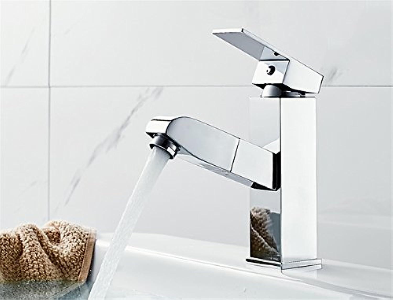 LHbox Waschtisch Armatur Wasserhahn Ziehen heien und Kalten Oberflche Waschbecken Badezimmer Waschbecken Teleskop Waschbecken Armaturen, B 1 Pull-Down Wasserhahn