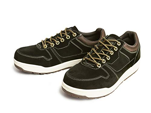[エドウィン] 防水 スニーカー メンズ ブーツ レインシューズ ウォーキング メンズスニーカー 防滑 アウトドア マウンテンブーツ メッシュ 通気性 靴 メンズシューズ Black 25cm