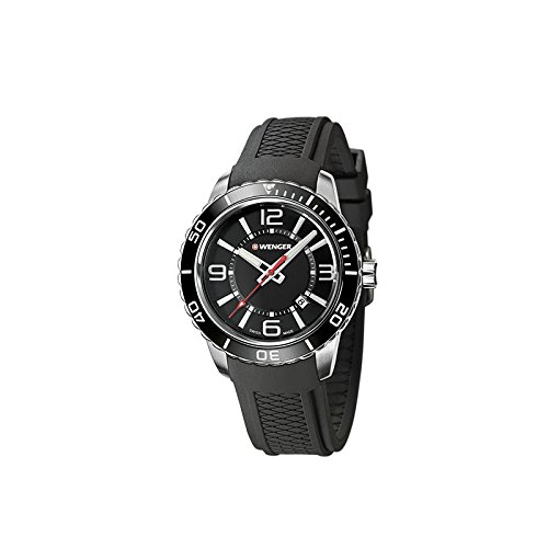 Wenger Reloj Analogico para Hombre de Cuarzo con Correa en Silicona 01.0851.117