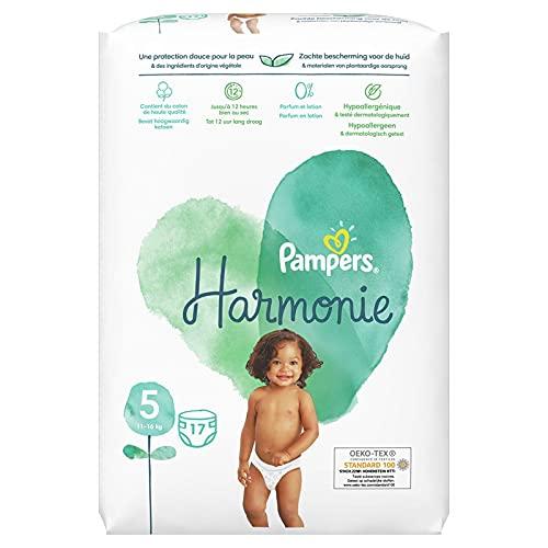 Pampers Harmonie Windeln Größe 5, (11-16 kg) Hypoallergen - LOS 6 X 17 Stück - 102 Windeln