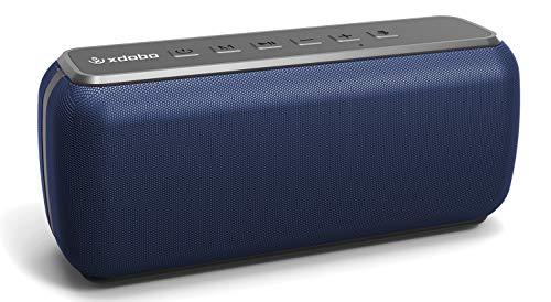 XDOBO Bluetooth Lautsprecher 60 Watt V5.0 Rich Bass Lauter Stereo-Sound TWS wasserdichte 8-Stunden-Unterstützung für die Spielzeit TF Card/AUX Tragbare drahtlose Lautsprecher für Bar-Heimkino