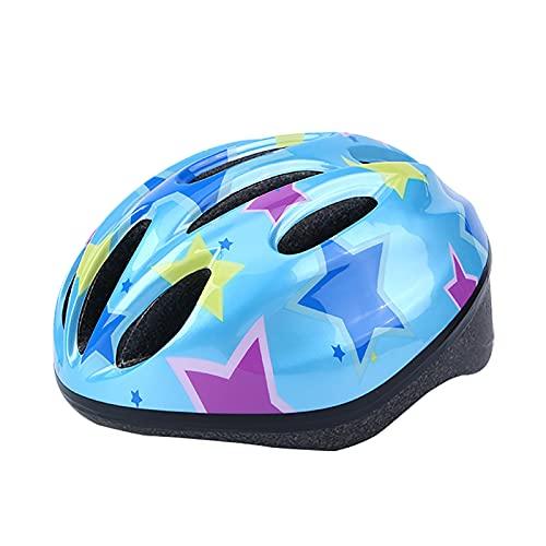 Qagazine Casco de bicicleta para niños, tamaño ajustable, duradero, con diseños divertidos, casco de seguridad para niños y niñas