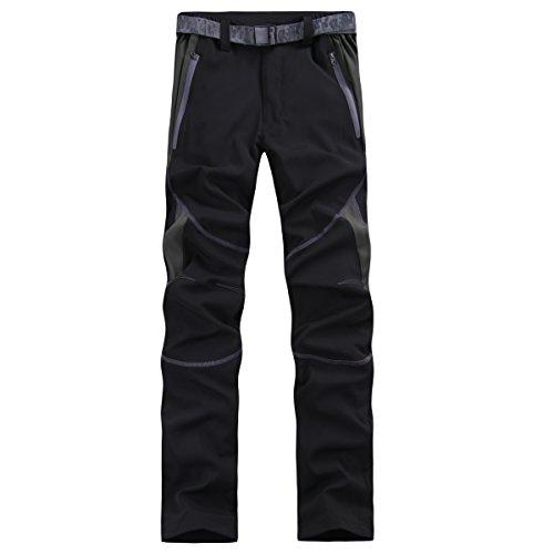 emansmoer Femme Imperméable Respirant Quick Dry Léger Élastique Pantalon Outdoor Sport Camping Randonnée Pêche Pants (XX-Large, Noir)