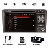 Double radio de voiture stéréo pour Audi A3 / S3 / RS3 7 pouces Sat Nav avec lecteur DVD Navigation GPS HD écran tactile tactile de contrôle de volant Bluetooth 1080P vidéo