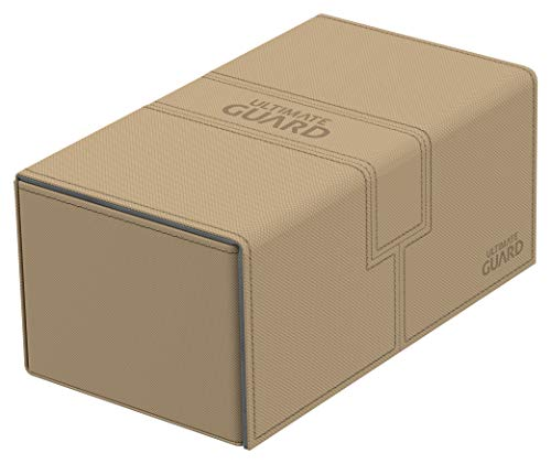 Ultimate Guard 200 Card Twin Flip N Tray Xenoskin Deck Case, Sand