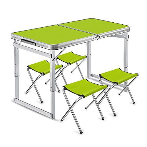 LW Outdoor picknicktafel, opvouwbaar, draagbaar, in hoogte verstelbaar, campingtafel, opvouwbaar, met stoelen voor tuinfeest, BBQ, werk, huiswerk en huiswerk A1