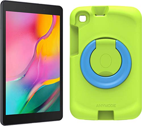 Samsung Galaxy Tab A 8.0 Wi-Fi (2019) + Kids Cover Green (20.31 cm (8 Inch), 32 GB Internal Memory, 2 GB RAM, Android 9 with Kids Home Area) Black