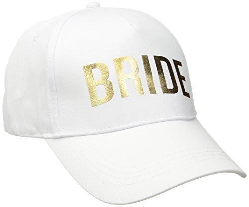 Betsey Johnson Women's Bridal Baseball Hats, White, One Size
