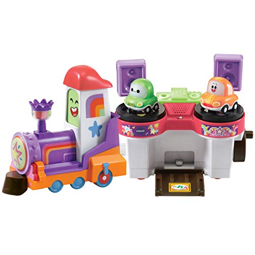Vtech 80-528904 TUT Bahnschiene Babyspielzeug, Babyfahrzeug, Spielzeugauto, Cory Flitzer, DJ