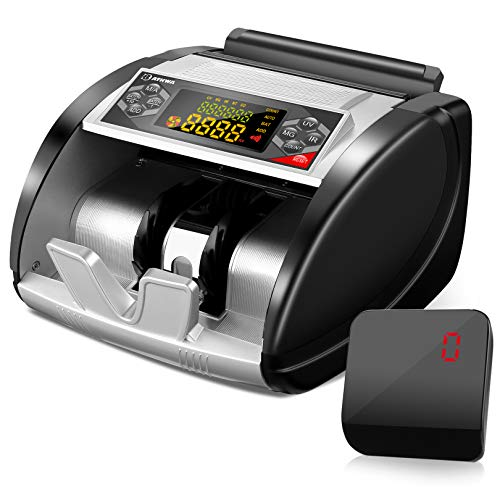 BATHWA Money Counter Machine with Counterfeit Bill Detector(UV/MG/IR), Bill Counting Machine(USD only), Portable Cash Counter Machine with 6 Mode, External LED Display, 1,000 Bills/Min