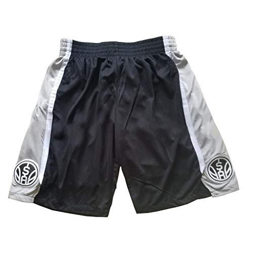 Pantaloncini da basket da uomo, San Antonio Spurs Pantaloncini da allenamento per pallacanestro in mesh traspirante in tessuto traspirante retrò da palestra Pantaloni casual ad asciugatura rapida-XXL