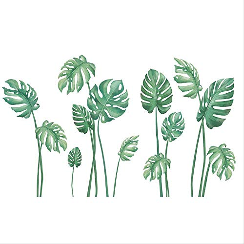Raamglas deur Decal Saffraan Kleine Verse Groene Plant Nordic Wind Muurpapier Zelfklevende Waterdichte Sticker Creatieve Muursticker