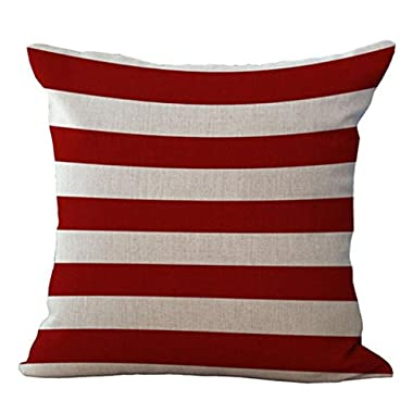 Goddessvan National Flag Print Throw Pillow Cases Cafe Sofa Home Decor Cushion Cover 45cm45cm (H)