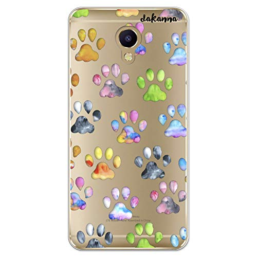 dakanna Funda Compatible con [ Meizu M5 Note ] de Silicona Flexible, Dibujo Diseño [ Huellas de Mascotas ], Color [Fondo Transparente] Carcasa Case Cover de Gel TPU para Smartphone