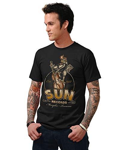 LORI Mens Short Sleeve Shirt Printed T Shirt Steady Clothing Sun Records Roosterbilly Mens T-Shirt