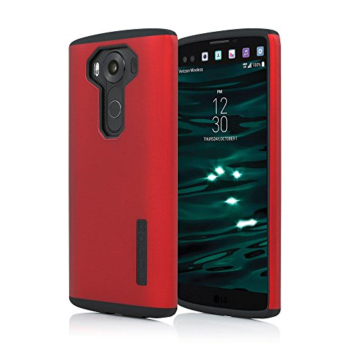 LG V10 Case, Incipio [Hard Shell] [Dual Layer] DualPro Case for LG V10-Iridescent Red/Black