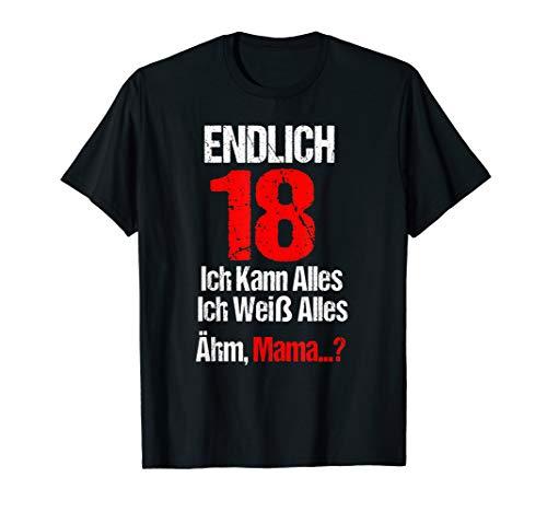 Lustiges Endlich 18 Geburtstag Ich Kann Alles Ich Weiß Alles T-Shirt