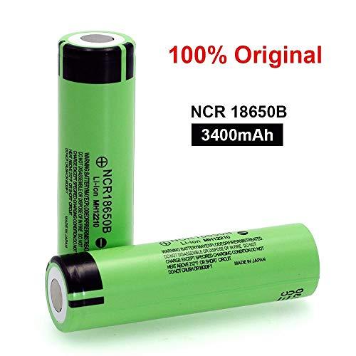 cunazo 2er Pack Flat Top 18650B 3.7 v 3400mah 18650 Für Taschenlampenbatterien