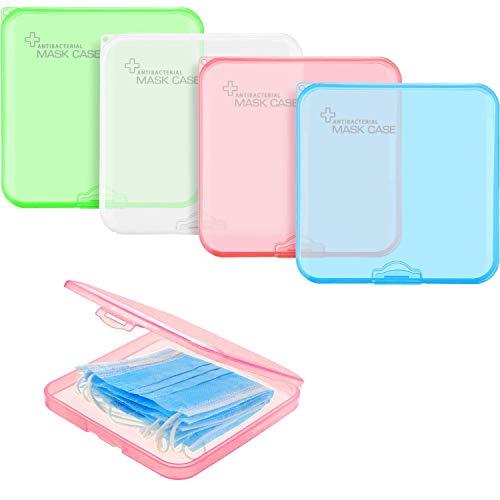 Grneric - Set di 4 contenitori in plastica riutilizzabili per coperchio della bocca, clip per la prevenzione della polluzione