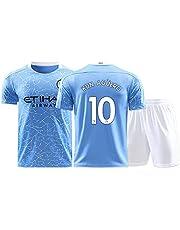 Voetbalshirts,#7Ro Azar#17 De Bruyne#10 Agüero, kinderen/jongens (maten: 16 18 20 22 24 26 28) volwassenen (S M L XL XXL)