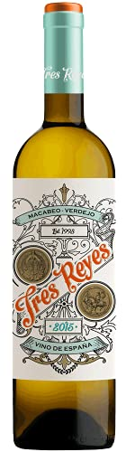Tres Reyes Macabeo Verdejo, Vino Blanco, 1 Botella, 75cl