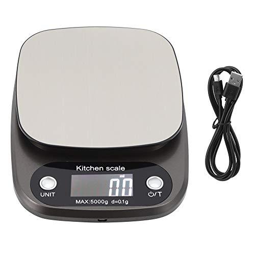 Báscula De Alimentos Multifunción Lcd Electrónica Báscula Digital 5Kg/0.1G Peso Gramos Y Onzas Para Cocinar Y Hornear En La Cocina