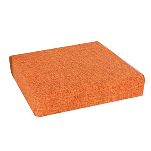 Kimyu - Cuscino per sedia a sdraio, 40 x 40 cm, in lino, a forma quadrata, in spugna ad alta densità, con cerniera